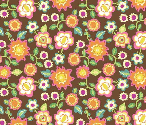 frankies_brown_200_repeat fabric by mcuetara on Spoonflower - custom fabric