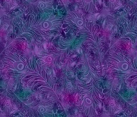 batik_peacock001 fabric by fabricfantasy on Spoonflower - custom fabric