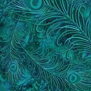 batik_peacock001_teal