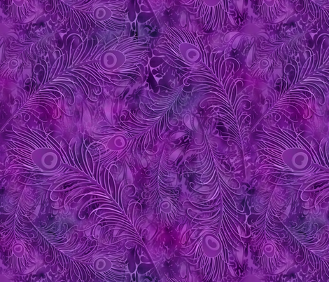 batik_peacock001_purple fabric by fabricfantasy on Spoonflower - custom fabric
