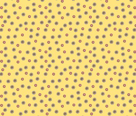 cameo_ditzy_200_yellow fabric by mcuetara on Spoonflower - custom fabric