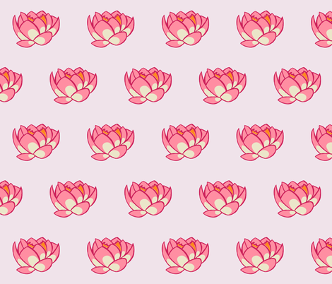 Lotus Lily fabric by caitieillustrates on Spoonflower - custom fabric