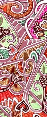 Sensuous Middle Eastern horizontal stripe