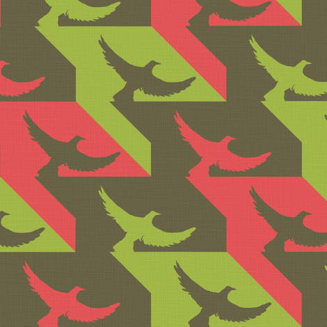 hounds_tooth4_linen fabric by sary on Spoonflower - custom fabric