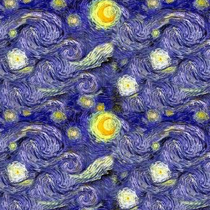 Van Gogh's Starry Night | Sky Only | Dark Blue Version