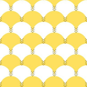 Scallops & Chevrons_Gold Colorway