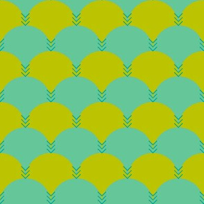Scallops & Chevrons_Emerald Colorway