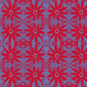 Red & Blue Daisy
