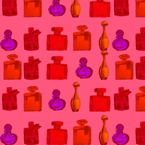 perfume bottles on parade