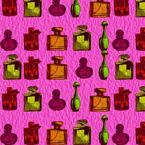 perfume parade on pink