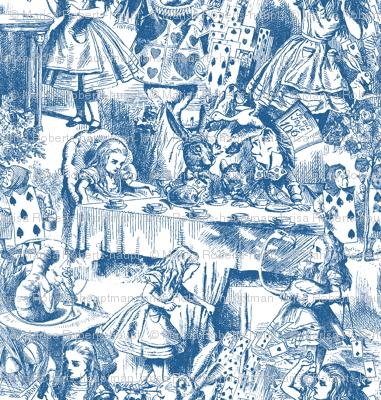 Alice's Adventures in Toile - monaco blue