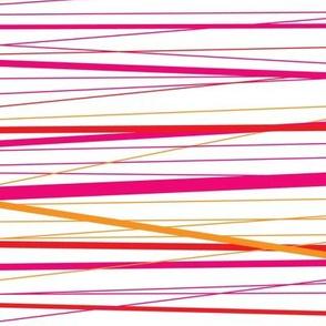 Red Stripy String Pattern