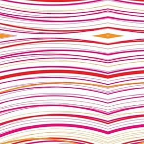 Red Stripy String Curvy Pattern