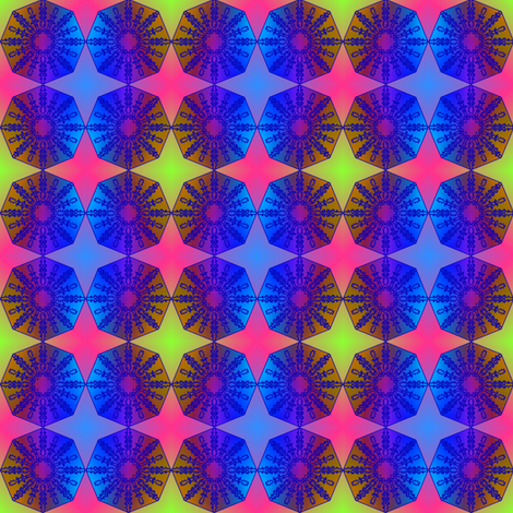 mini glow octagons fabric by y-knot_designs on Spoonflower - custom fabric