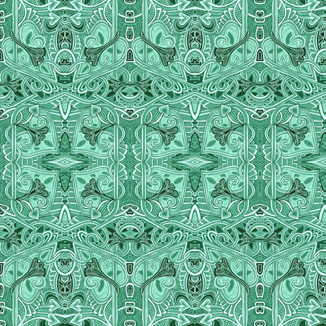 Hexagon Gardens fabric by edsel2084 on Spoonflower - custom fabric