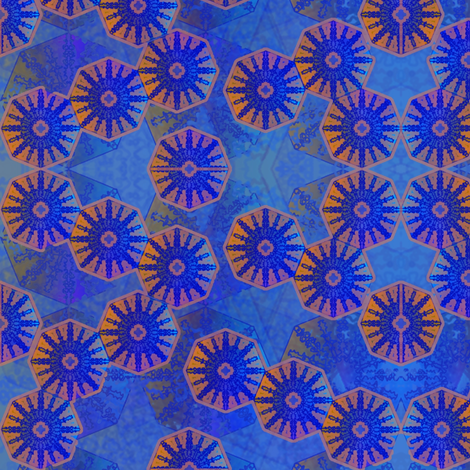 interplanetary octagons fabric by y-knot_designs on Spoonflower - custom fabric