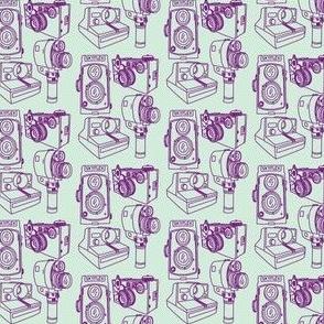 Cameras Mint Green & Grape Purple