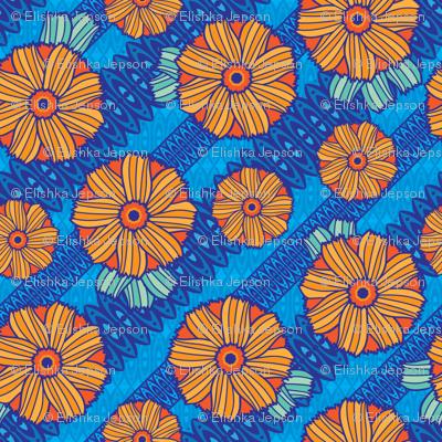 Boho Blossoms (Blue)