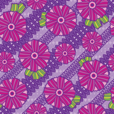 Boho Blossoms (Purple) fabric by robyriker on Spoonflower - custom fabric