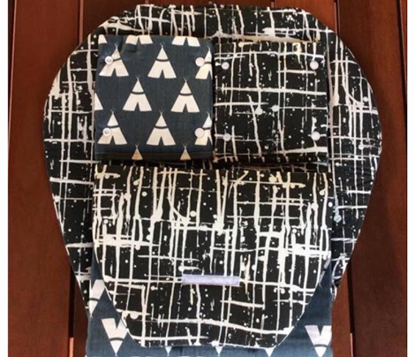 Ink Splatter II. White and Black
