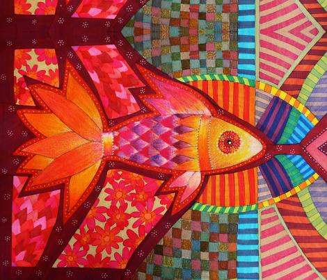 Fish, Poissons, Pescados, Pez fabric by lita_blanc on Spoonflower - custom fabric