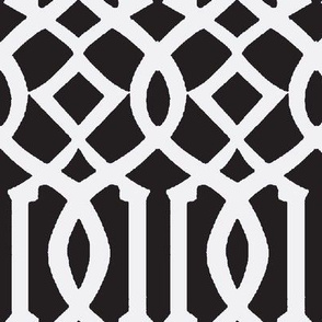 Imperial Trellis-Black-Large