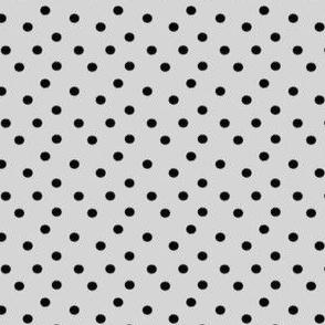 Boho Dots   Creamy Grey and Black