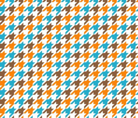 Hountstooth Tricolor fabric by mooddesignstudio on Spoonflower - custom fabric