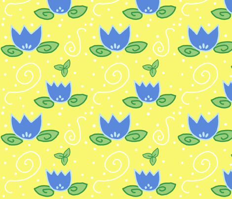 Blue and Yellow fabric by lindseysalles on Spoonflower - custom fabric
