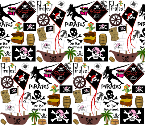 LADY PIRATE fabric by bluevelvet on Spoonflower - custom fabric