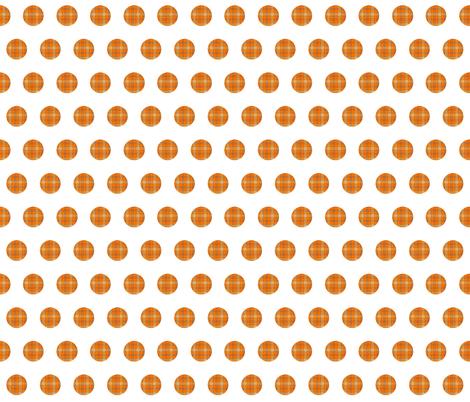 ORANGE GROVE TARTAN  POLKA DOTS fabric by bluevelvet on Spoonflower - custom fabric