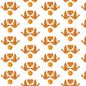 ORANGE GROVE TARTAN LOVE BIRDS