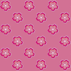 Sakura Batik Cherry Blossom on Pale Pink