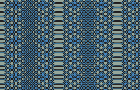 Blue Snake Geometric fabric by mariafaithgarcia on Spoonflower - custom fabric