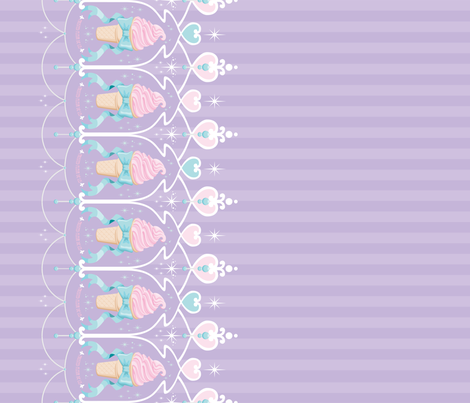 ice-cream-dream-lavender fabric by frostedfleurdelis on Spoonflower - custom fabric