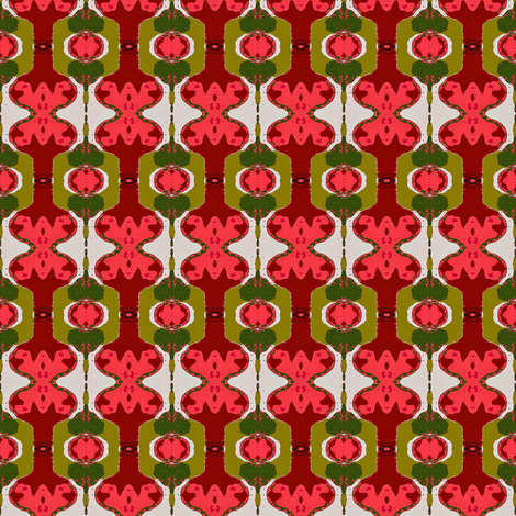 rose ornaments fabric by dk_designs on Spoonflower - custom fabric