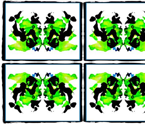 green ink blot fabric by nascustomlife on Spoonflower - custom fabric