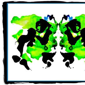 green ink blot
