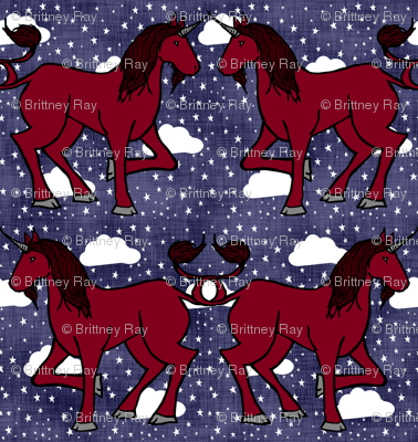 Unicorn Sky Night