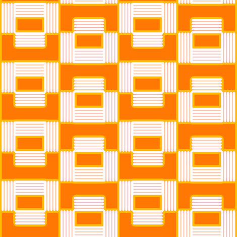 Orange Puzzle fabric by fireflower on Spoonflower - custom fabric