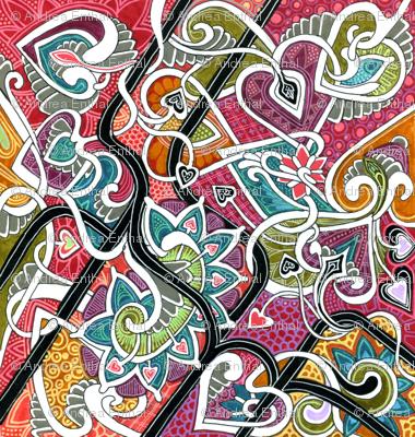Doodling Heart Meander
