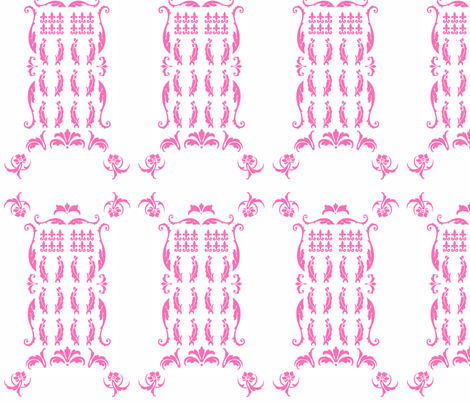 TDamaskPink2 fabric by morrigoon on Spoonflower - custom fabric