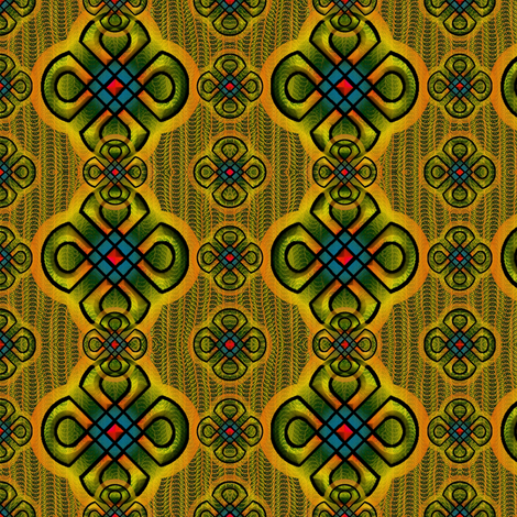 rangoli2 orange fabric by y-knot_designs on Spoonflower - custom fabric