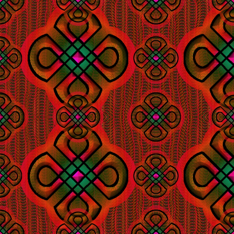 rangoli2 redorange fabric by y-knot_designs on Spoonflower - custom fabric