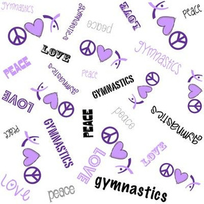 Peace Love Gymnastics Purple