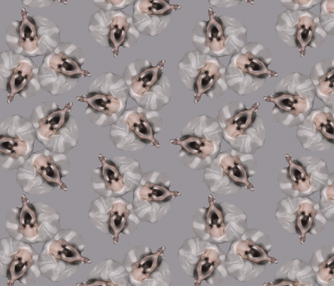 ballerinas like flowers fabric by kociara on Spoonflower - custom fabric