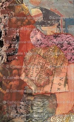 Mosaic collage terracotta 2