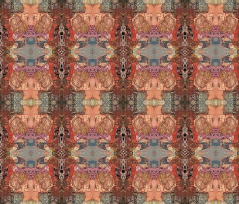 Mosaic collage terracotta 2 fabric by cathymcg on Spoonflower - custom fabric