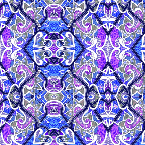 Dragon Scales and Thistle Tales fabric by edsel2084 on Spoonflower - custom fabric