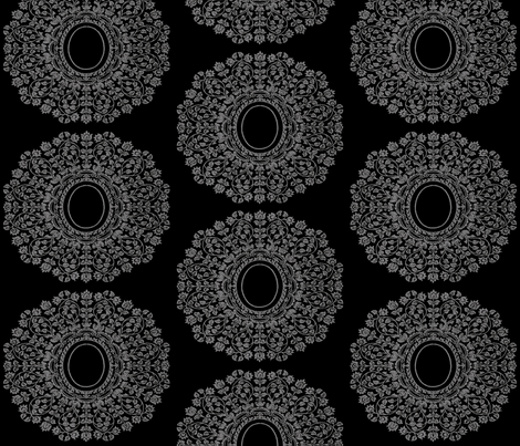 Ornate Lace Cameo fabric by pearl&phire on Spoonflower - custom fabric